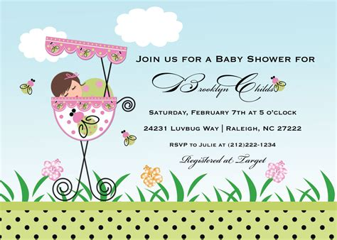 Template Baby Shower Invitation Cards Baby Birthday Invitation Card Template