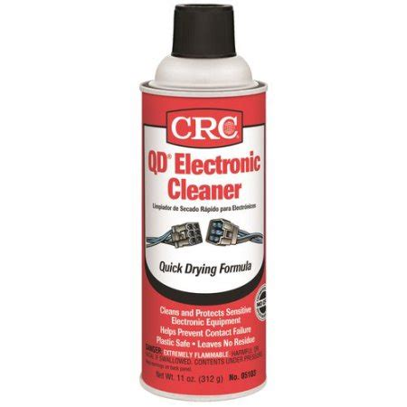 Contact Cleaner Lubricant Standard crc qd electronic cleaner 11 wt oz walmart
