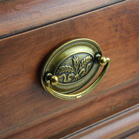 brass cabinet door knobs high quality 10x retro furniture hardware drawer drop ring