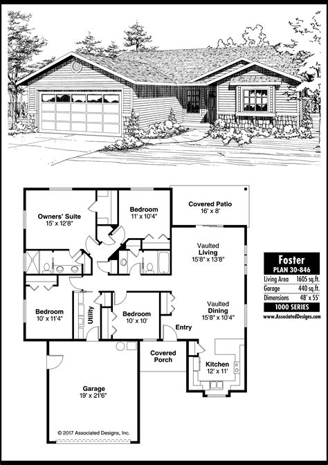 ranch house plans foster 30 846 associated designs house plan columns for publication associated designs