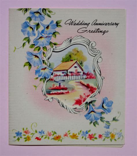 wedding card book etsy vintage wedding anniversary greeting card featuring beautiful