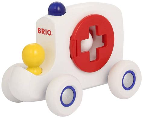 brio baby brio push along ambulance police car classic baby