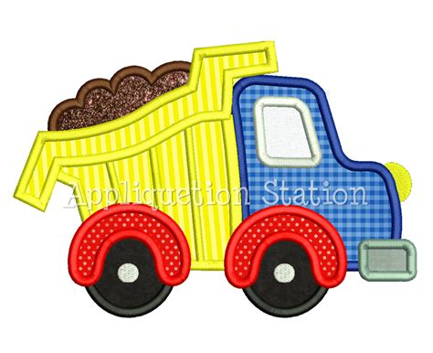 Dump Truck Applique Machine Embroidery dump truck applique machine embroidery design boy