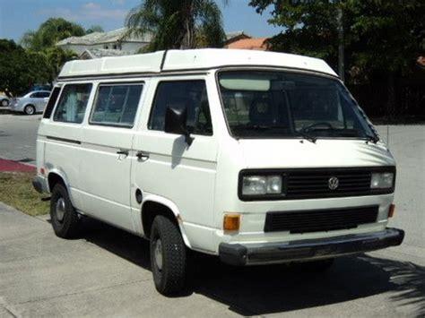 volkswagen vanagon 1987 buy used 1987 vw vanagon gl westfalia t3 westy full cer