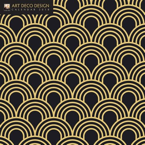 art deco design art deco design 2018 mini wall calendar 9781786644046