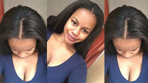 part in the middle sew in flawless middle part sew in on natural hair youtube