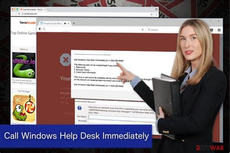 Call Service Desk by Remove Call Windows Help Desk Immediately Virus Free