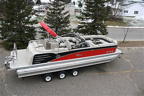 pontoon boat with windshield new windshield 27 triple tube pontoon boat with 300 verado