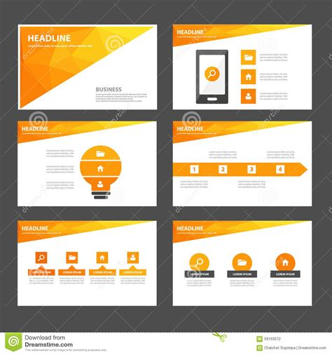 Abstract Orange Yellow Infographic Element And Icon Presentation Templates Flat Design Set For Presentation Template Design