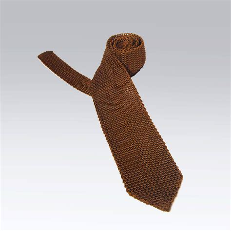 Handcrafted In Italy - lenno italian handmade silk knitted tie in tobacco