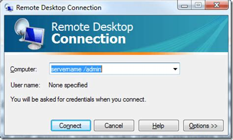 remote desktop console what happened to the console switch in rdp 6 1 mstsc