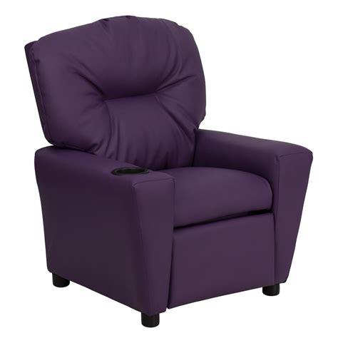 vinyl recliner chairs flash furniture contemporary purple vinyl kids recliner