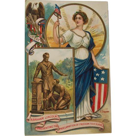 emancipation proclamation lincoln abraham lincoln and emancipation proclamation postcard c