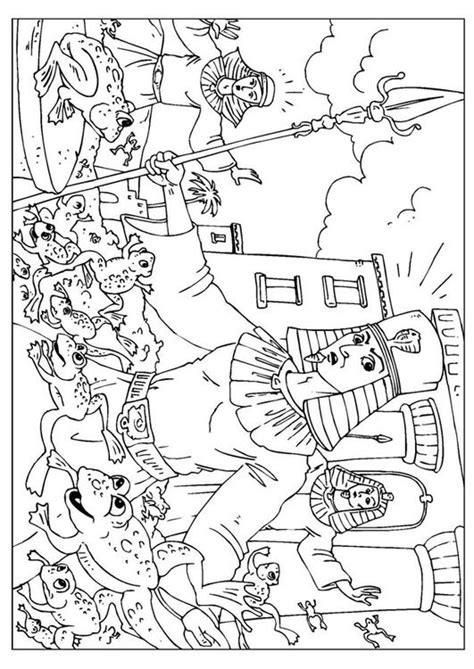plague of frogs coloring page coloring page plague of frogs img 27062