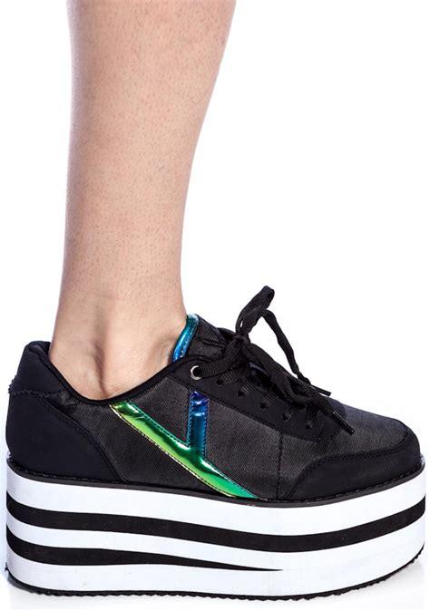 sneaker platforms y r u krazii platform sneakers dolls kill