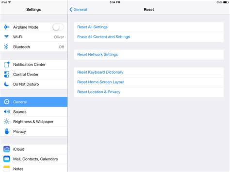 reset ipad online how to reset an ipad to factory ehow