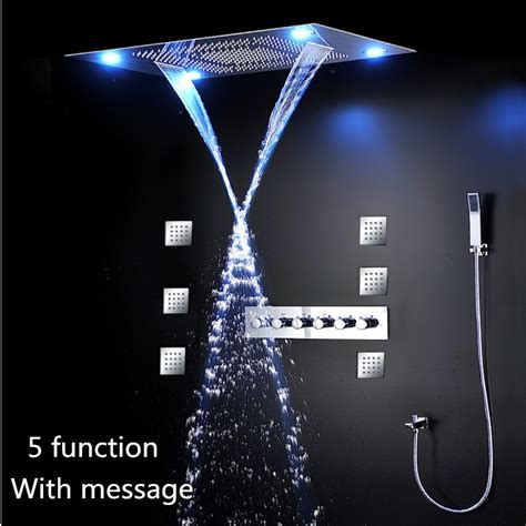 Jet Shower Shower Kloset Sc 01 led remote 600 800mm shower set with jet bathroom shower mixer set buy