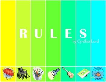 themes of the book rules rules by cynthia lord common core aligned novel study