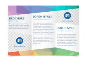 Folded Brochure Template by Free Tri Fold Brochure Vector Template Free