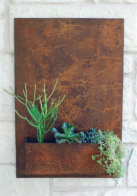 best 25 outdoor wall planters ideas on wall