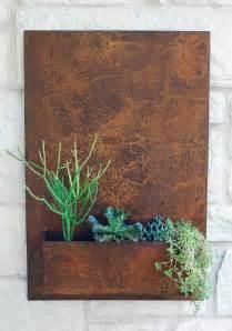 Garden Wall Planters Metal by Vertical Garden Metal Succulent Wall Planter 20 Quot X 30