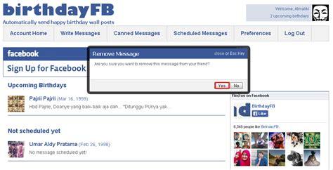 cara membuat ucapan selamat ulang tahun di facebook cara memberi ucapan selamat ulang tahun otomatis di