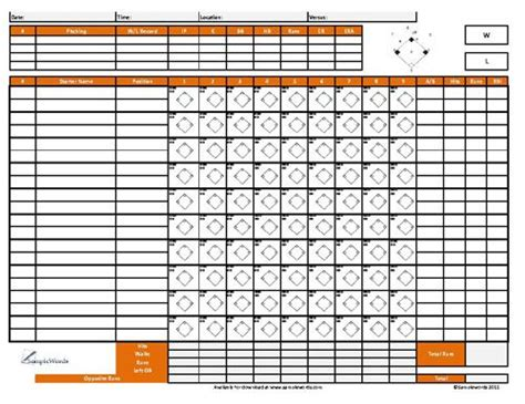 slo scoring template softball score sheet free d scores and softball