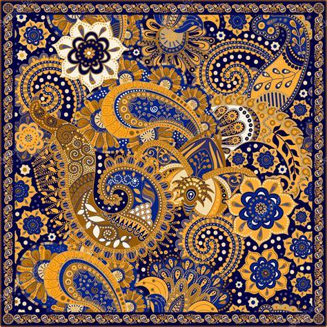 Pattern Pocket Square ornamental paisley pattern design for pocket square