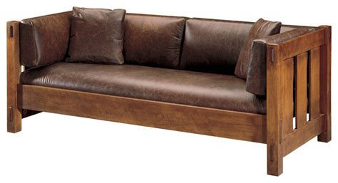 mission style sofa stickley settle 89 208