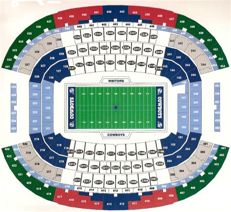 at t stadium map dallas cowboys psl seat license 3 rows from field sec