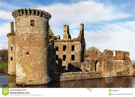 Sw Castle sw tower caerlaverock castle royalty free stock photos