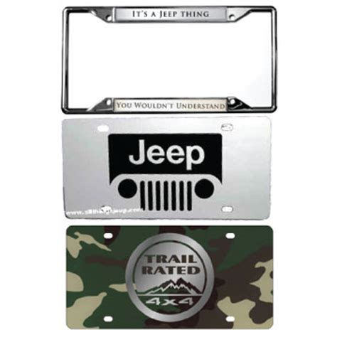 Jeep Tags All Things Jeep Jeep License Plates Frames