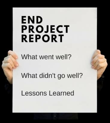 end of project report template end project report template word template free