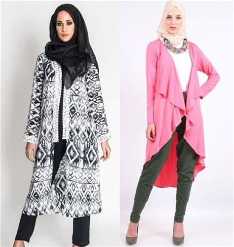 Baju Muslim Remaja Untuk Hang Out model cardigan panjang terbaru wanita trend model baju terbaru 2016