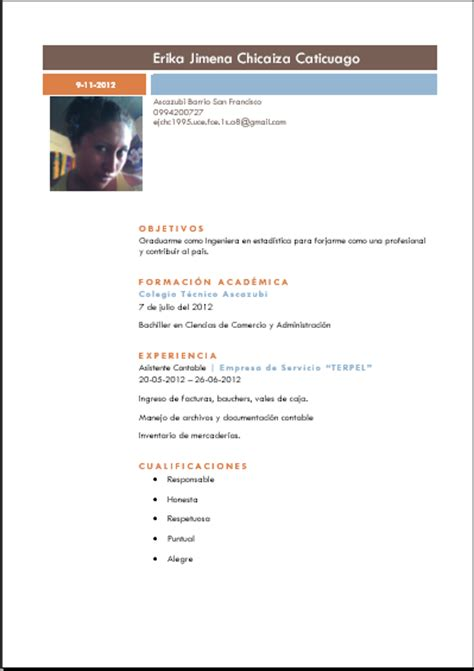 Modelo De Curriculum Vitae Descriptivo Peru Modelo De Curriculum Vitae Descriptivo Modelo De Curriculum Vitae