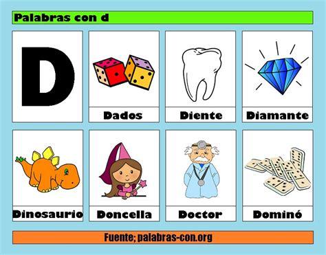 imagenes y palabras con la letra o palabras con la letra d d ejemplos de palabras con d