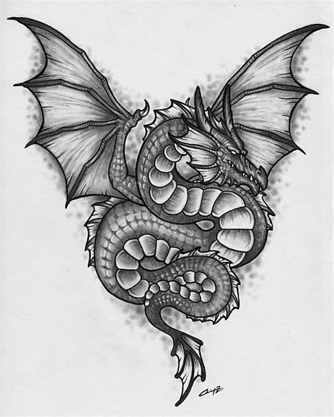 serpent dragon tat by pencil chewer on deviantart