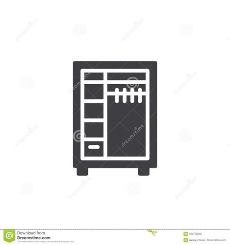 Wardrobe Symbol by Closet Icon Vector Stock Vector Image Of Shelf Storage 101772610