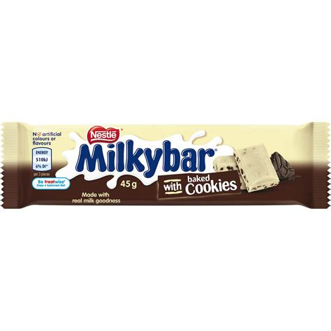 Nestle Bar Milk Cookies 180g nestle milkyba cookies 45g bar 45g woolworths