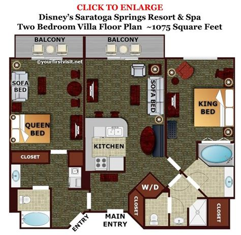 disney treehouse villa floor plan theming and accommodations at disney s saratoga springs