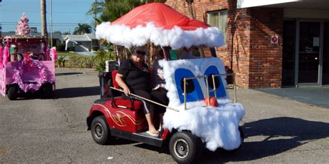 christmas themes for golf how to decorated a golf cart sun city center photos