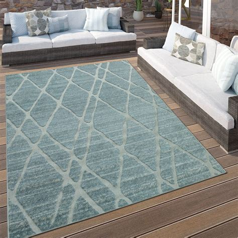 tappeto da esterno tappeto per interni e esterni rombi celeste tappeti
