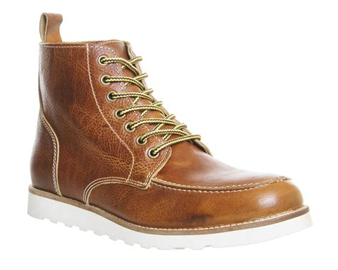 mens wedge boots mens ask the missus calibre apron wedge boots leather