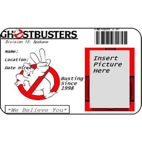 ghostbusters id card template 182 best boy s ghostbuster birthday images on