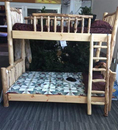 Pioneer Handcraft Furniture - bunk bed pioneer handcrafted log furniture