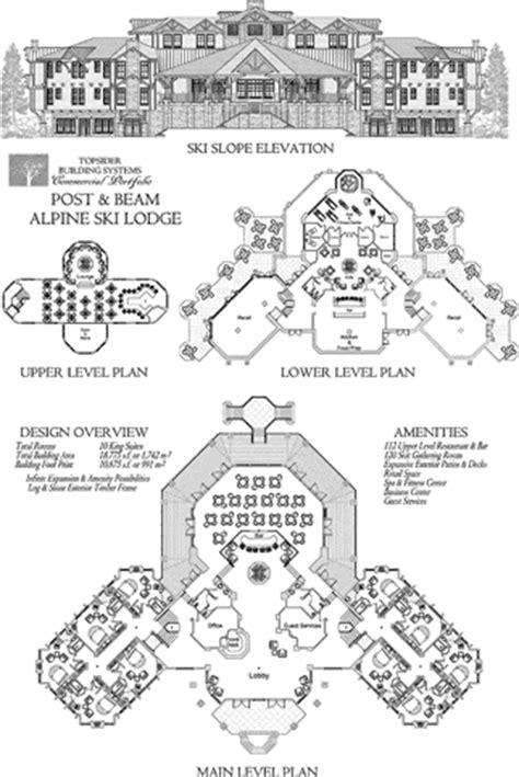 ski lodge floor plans commercial project development floor plans topsider homes