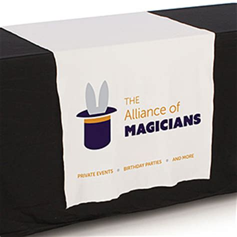 custom table runner with logo trade table runners plain or with custom printed logos