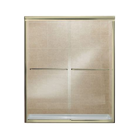 Brass Shower Doors Sterling Finesse 59 5 8 In X 70 1 16 In Semi Frameless