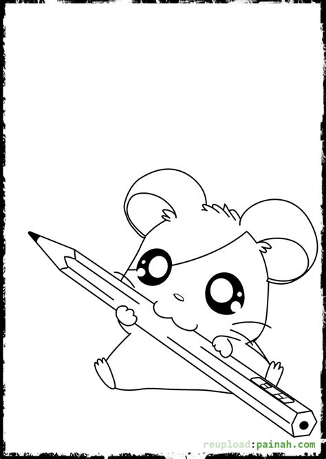 free coloring pages of cute hamster