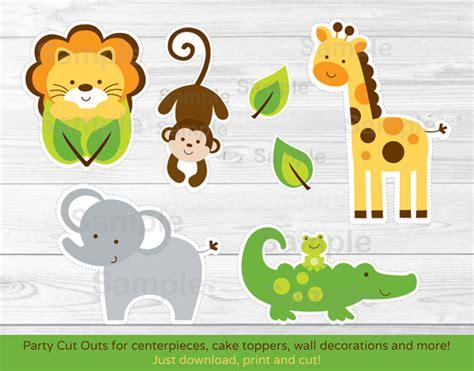 printable jungle animal patterns jungle safari animal cut outs centerpiece wall decor